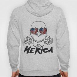 Merica Memorial Day Eagle Funny American Flag Hoody