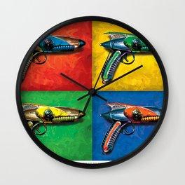 Pop Art Ray Guns Wall Clock