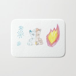 Fire and Ice Vulpix Bath Mat