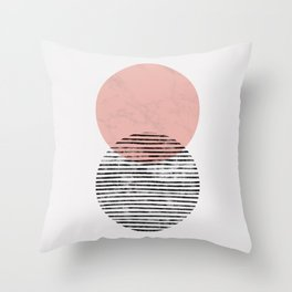 Mid Century art duo Throw Pillow