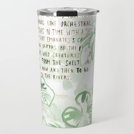 """""""Conquest of the Useless"""" by Werner Herzog Print (v. 3) Travel Mug"""