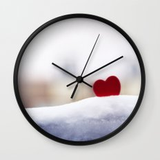 Love and Snow Wall Clock