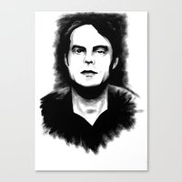 snl Canvas Prints featuring DARK COMEDIANS: Bill Hader by Zombie Rust