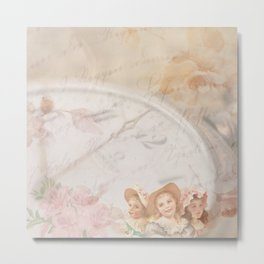 Timeless Victorian Collage Metal Print