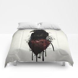 Raven and Heart Grenade Comforters