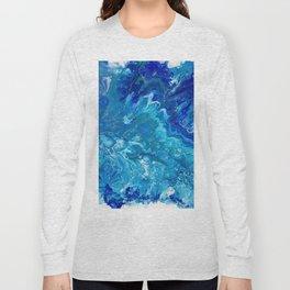 Dark Ocean Blue Long Sleeve T-shirt