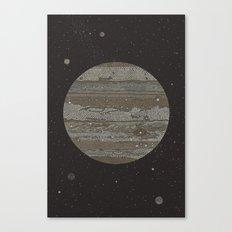 Jupiter (and selected Moons) Canvas Print