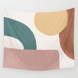 Abstract Earth 1.2 - Painted Shapes Wall Tapestry