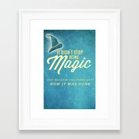 discworld Framed Art Prints featuring Discworld: Magic by halfawake