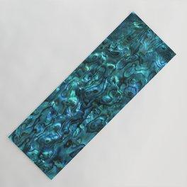 Abalone Shell   Paua Shell   Cyan Blue Tint Yoga Mat