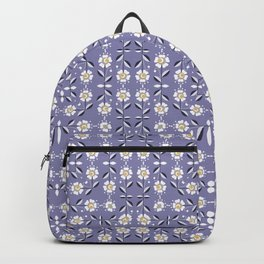Lilac flower pattern Backpack