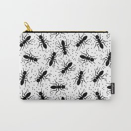 Confetti Ants in Black + White Carry-All Pouch