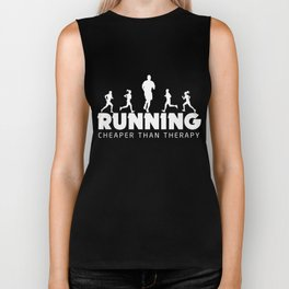 Running Shirt Running Cheaper Than Therapy Funny Runner Gift Biker Tank