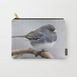 Fluffy Cassiar Dark-Eyed Junco on the Pear Tree Carry-All Pouch