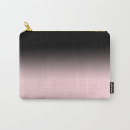 Modern abstract elegant black blush pink gradient pattern Carry-All Pouch