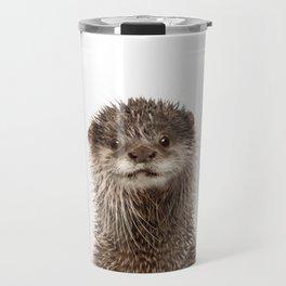 Baby Otter Portrait Travel Mug