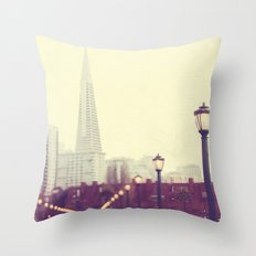 When we were together. San Francisco Transamerica Pyramid building, Pier 7 photograph Throw Pillow
