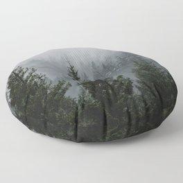 Forest Fog Mountain V - Wanderlust Nature Photography Floor Pillow