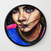 cara delevingne Wall Clocks featuring Cara Delevingne:) by vooce & kat
