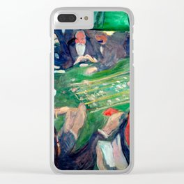 Edvard Munch - At the roulette table in Monte Carlo Clear iPhone Case