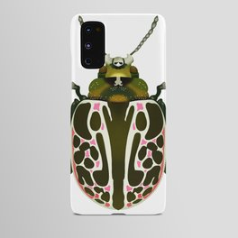 Green, White, Pink Beetle Android Case