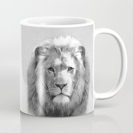 Lion - Black & White Coffee Mug
