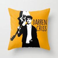 darren criss Throw Pillows featuring Darren Criss with guitar! by byebyesally