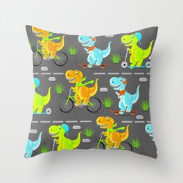 Dino teens Throw Pillow