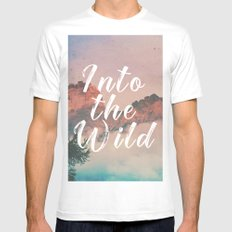Into the Wild White MEDIUM Mens Fitted Tee