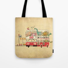 The Childhood Bus Tote Bag