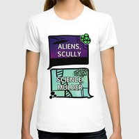 scully T-shirts featuring Aliens, Scully by raynall