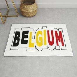Belgium Font #1 with Belgian Flag Rug