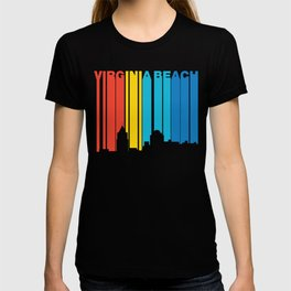 Retro 1970 S Style Virginia Beach Skyline T Shirt
