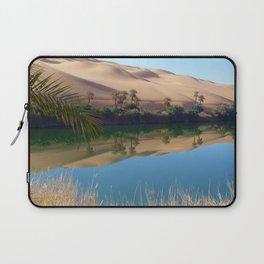 Gaberoun Oasis and Idehan Ubari Desert Dunes,  Libyan Sahara Laptop Sleeve