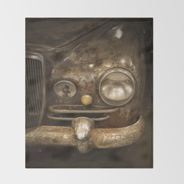 Rusty Car Throw Blanket