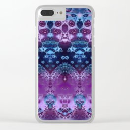 Hippy Blue and Lavender Clear iPhone Case