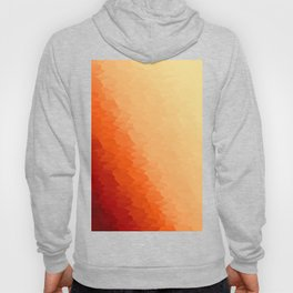 Orange Texture Ombre Hoody