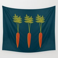 vegetable Wall Tapestries featuring Vegetable Medley by Veronica Galbraith