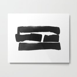 Four Lines Abstract Ink Painting - Horizontal Metal Print