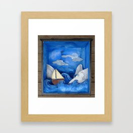 czech voyage Framed Art Print
