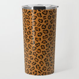 Dark leopard animal print Travel Mug