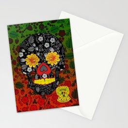 Russian Sugar Skull Stationery Cards