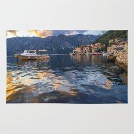 Sunset in Perast - Montenegro Rug