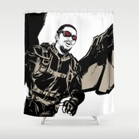 falcon Shower Curtains featuring Falcon by Irene Flores