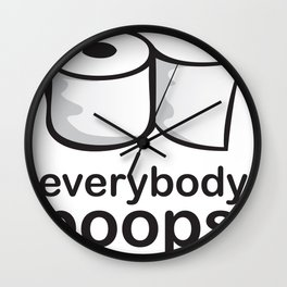 Everybody Poops Wall Clock