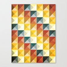 B/W/Y/O/R Canvas Print