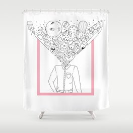 Mind-Blowing Doodles Shower Curtain