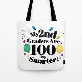 100th Day Of School 2Nd Grade Teacher Tote Bag