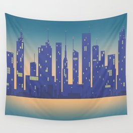 Night City Wall Tapestry