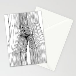 Sensual 3D Line Art Stationery Cards